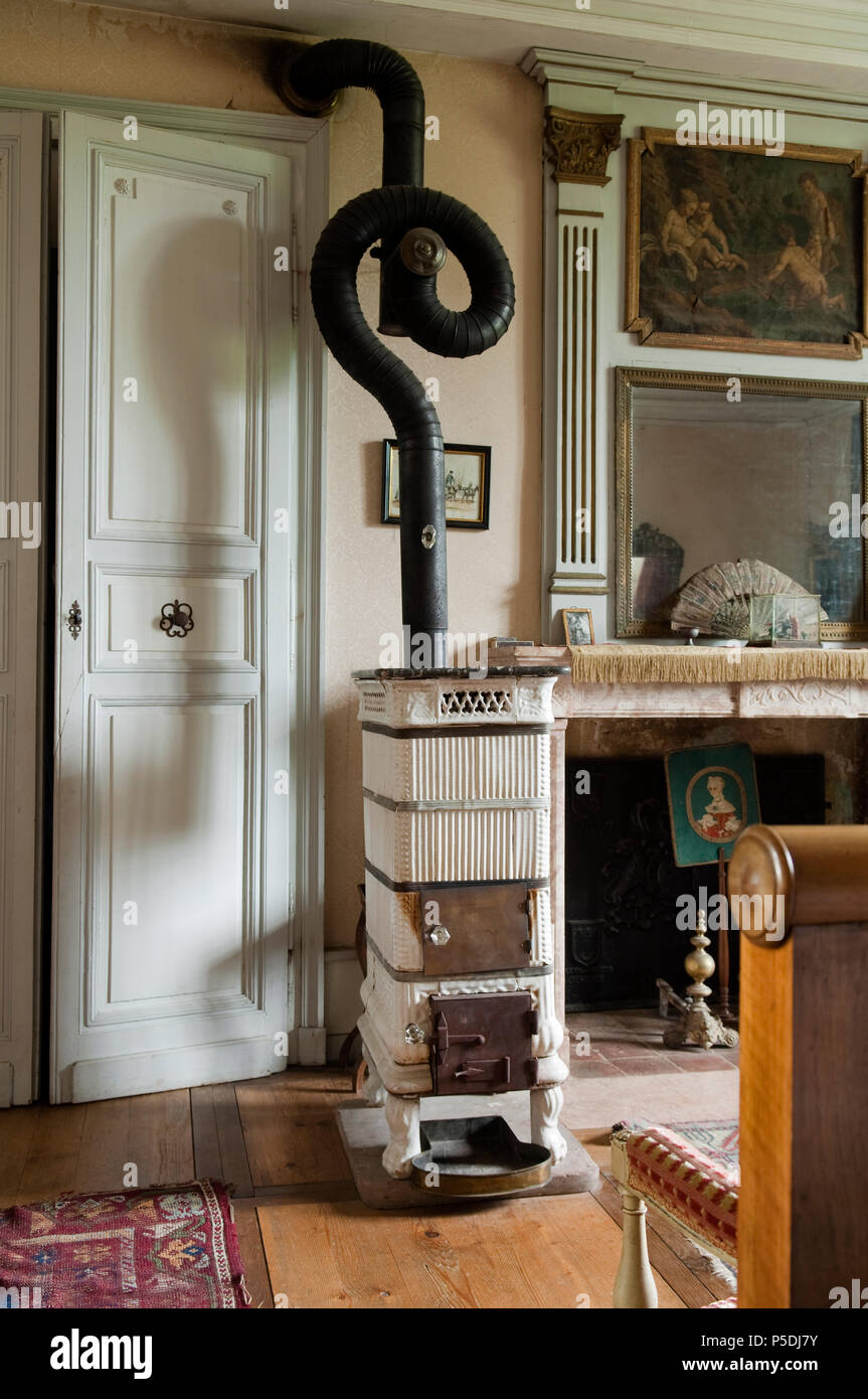 Antique fireplace - Stock Image