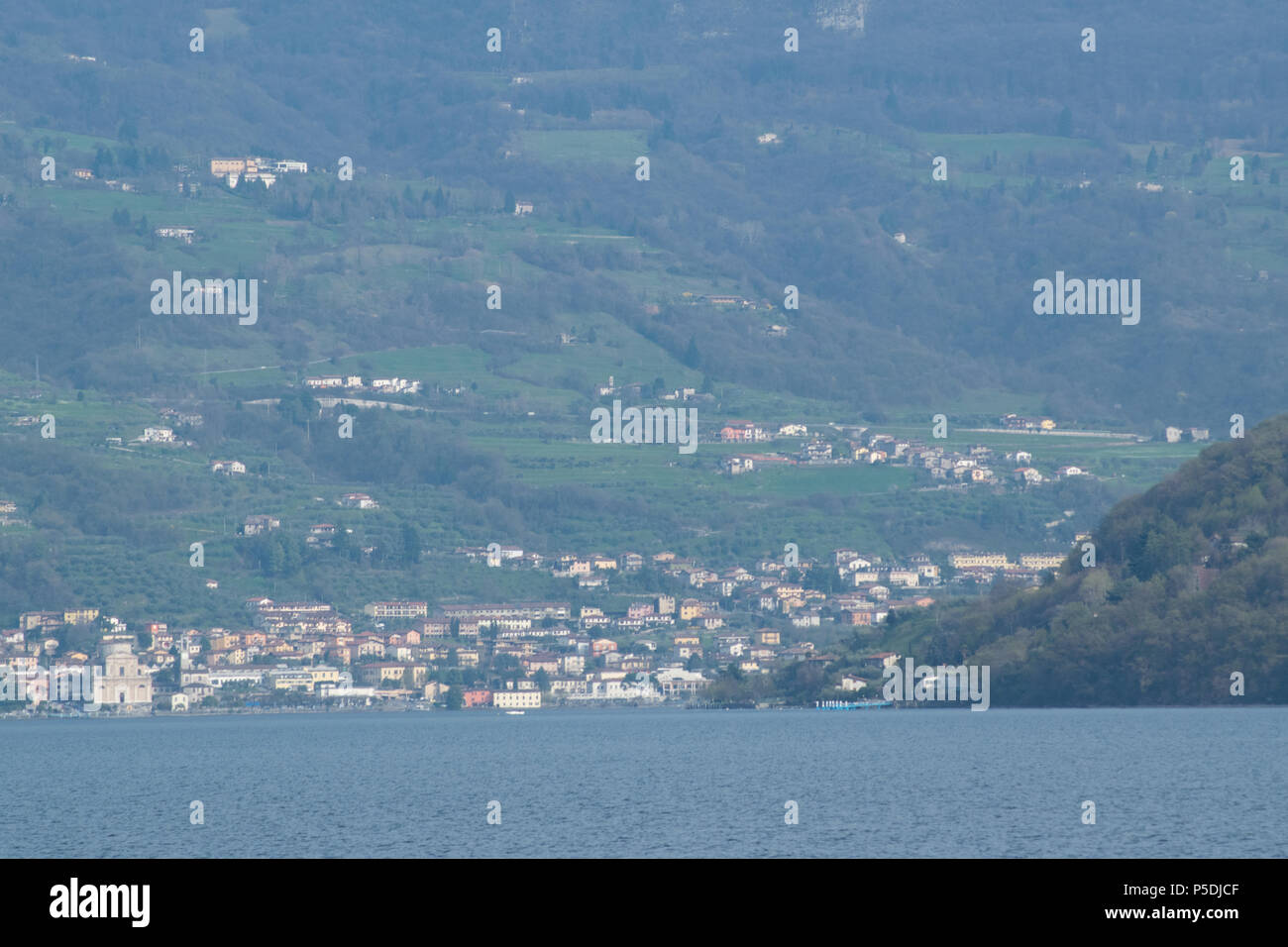 view on iseo lake - Stock Image