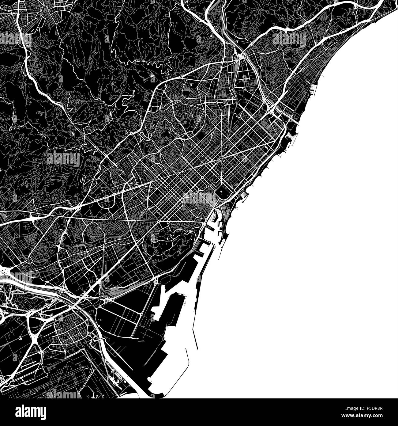 Area map of Barcelona, Spain. Dark background version for ... Map Of Barcelona Area on areas of copenhagen map, areas of boston map, areas of athens map, areas of seattle map, areas of greece map, areas of new york map, areas of london map, areas of abu dhabi map, areas of milan map, areas of spain map, areas of atlanta map, areas of houston map, areas of cadiz map, areas of new orleans map, areas of tampa map, areas of rome map, areas of berlin map, areas of los angeles map, areas of bangkok map, areas of chicago map,