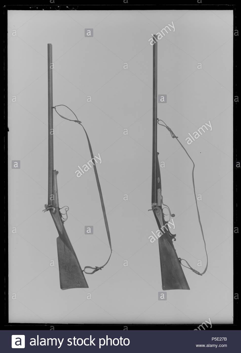 482 Dubbbelbössa för patron med stiftantändning cal - Livrustkammaren - 27571 - Stock Image