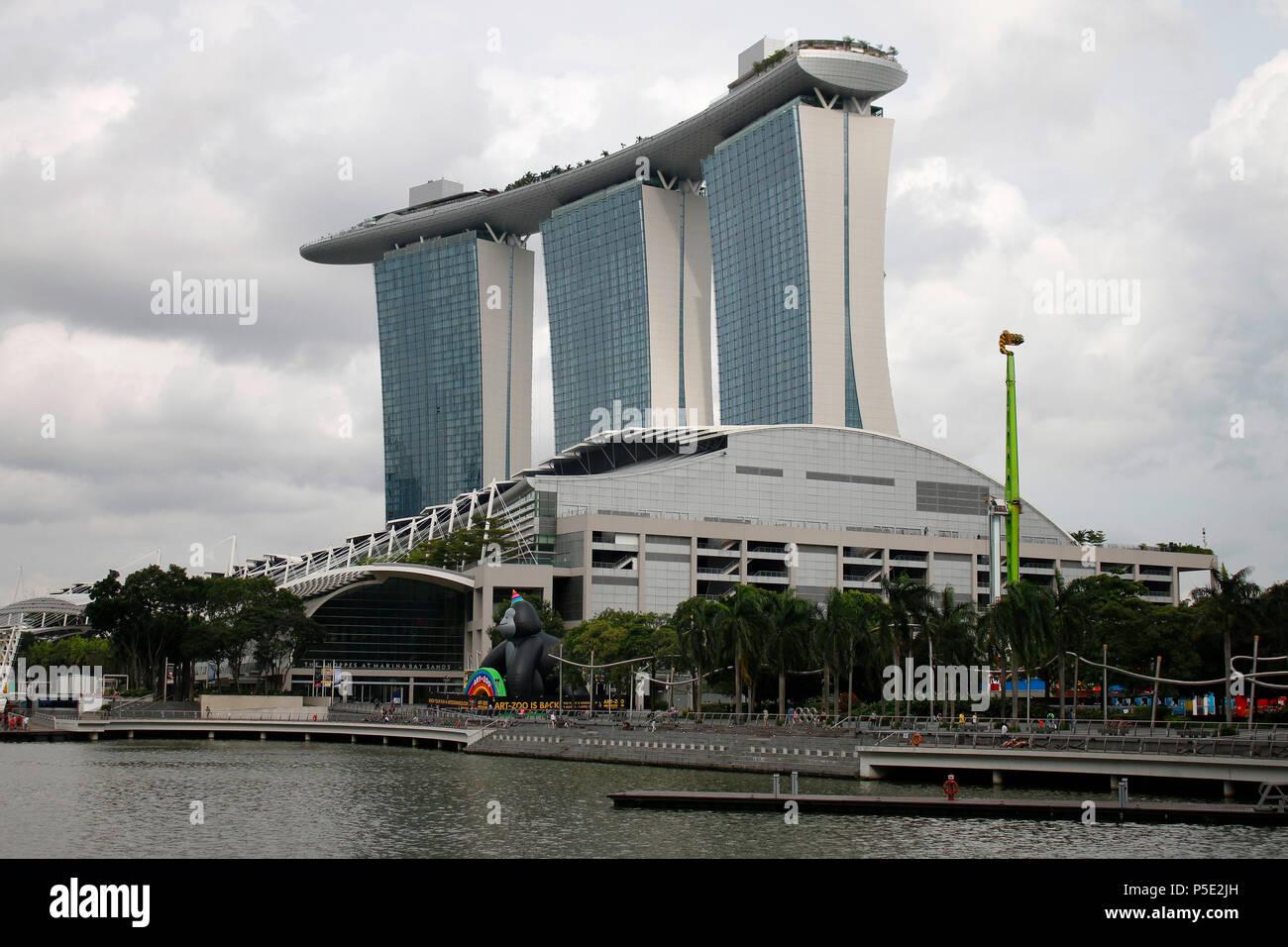 Marina Bay Sands, Singapur . - Stock Image