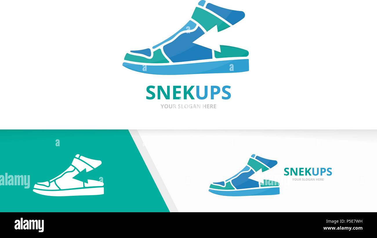 Vector Sneaker And Arrow Up Logo Combination Shoe Growth Symbol Or Icon Unique Footwear Upload Logotype Design Template