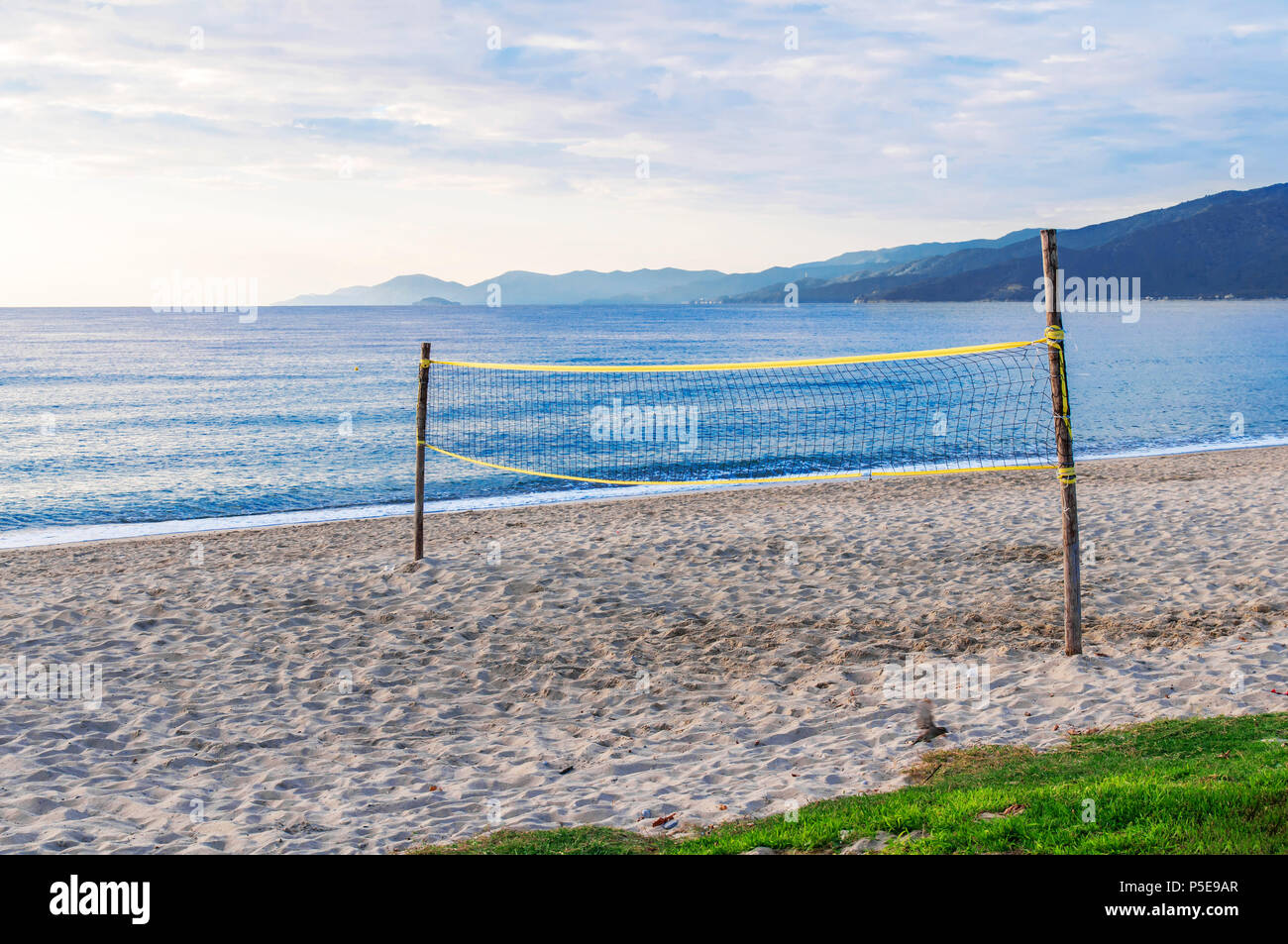 Beach Volley Court With Sea Background Stock Photo Alamy