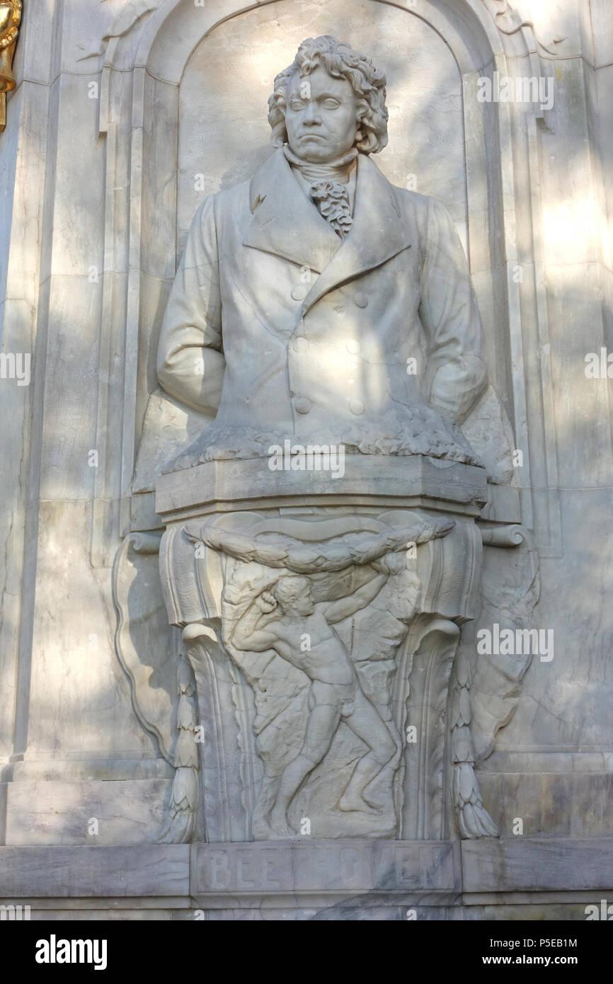N/A. English: Beethoven-Haydn-Mozart-Denkmal - Tiergarten, Berlin, Germany. 8 November 2014, 05:47:33. Daderot 181 Beethoven - Beethoven-Haydn-Mozart-Denkmal - Berlin, Germany - DSC09442 - Stock Image
