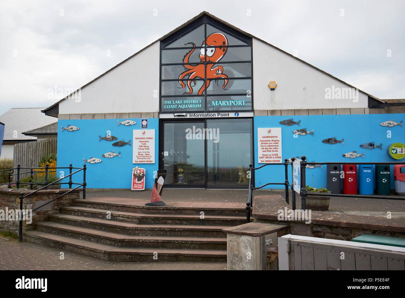 The lake district coast aquarium Maryport Cumbria England UK - Stock Image
