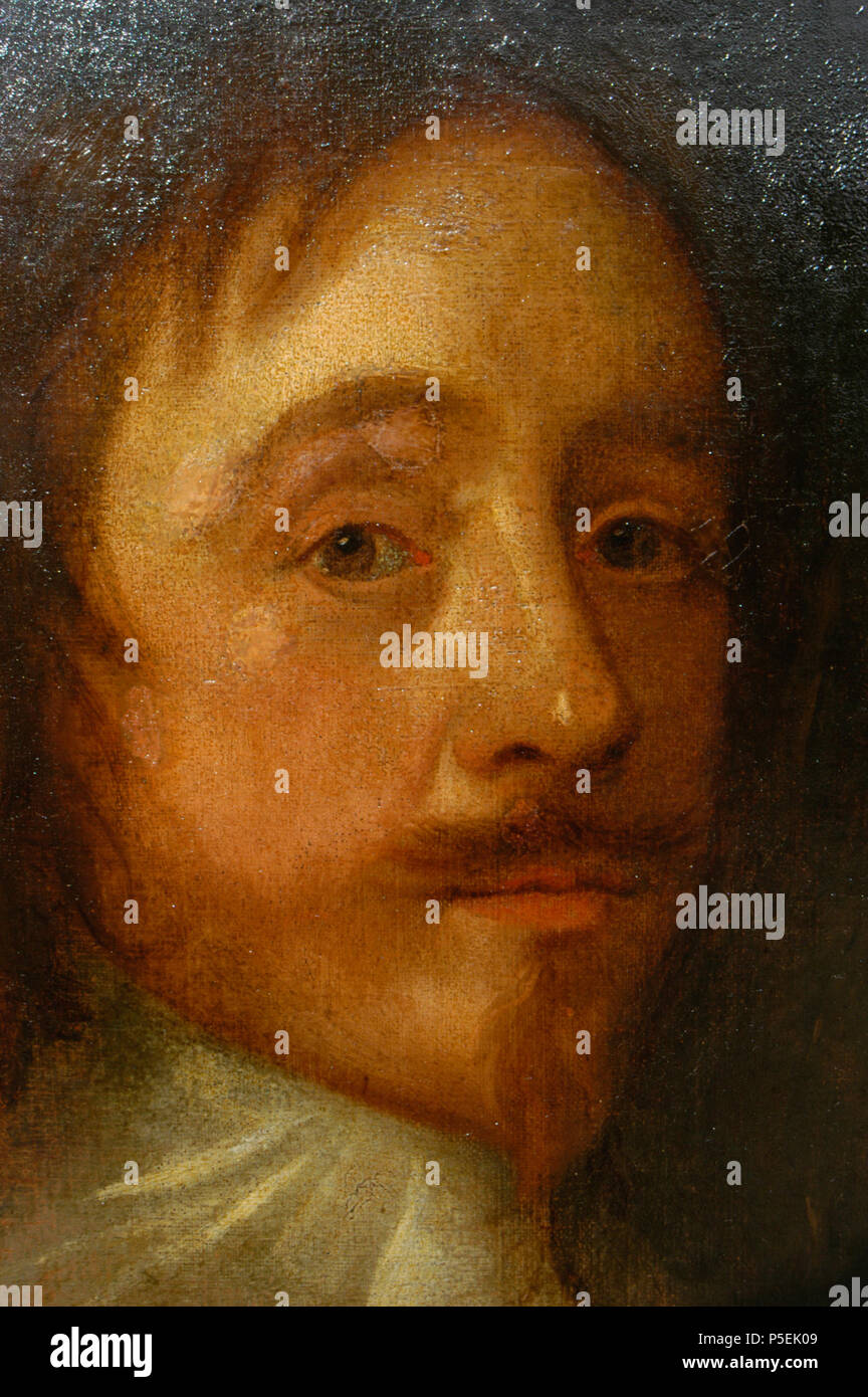 N/A. English: My photo (R. de Salis, Rodolph (talk) 09:19, 10 April 2014 (UTC)). Detail of an oil-on-canvas portrait of Sir Mildmay Fane, KB, (1602-1666), 2nd Earl of Westmorland. England (possibly a later copy). anon. Sitter died in 1666. (Life time: before 1666 (possibly a later copy)) 441 Detail of an oil on canvas portrait of Sir Mildmay Fane, KB, (1602-1666), 2nd Earl of Westmorland Stock Photo