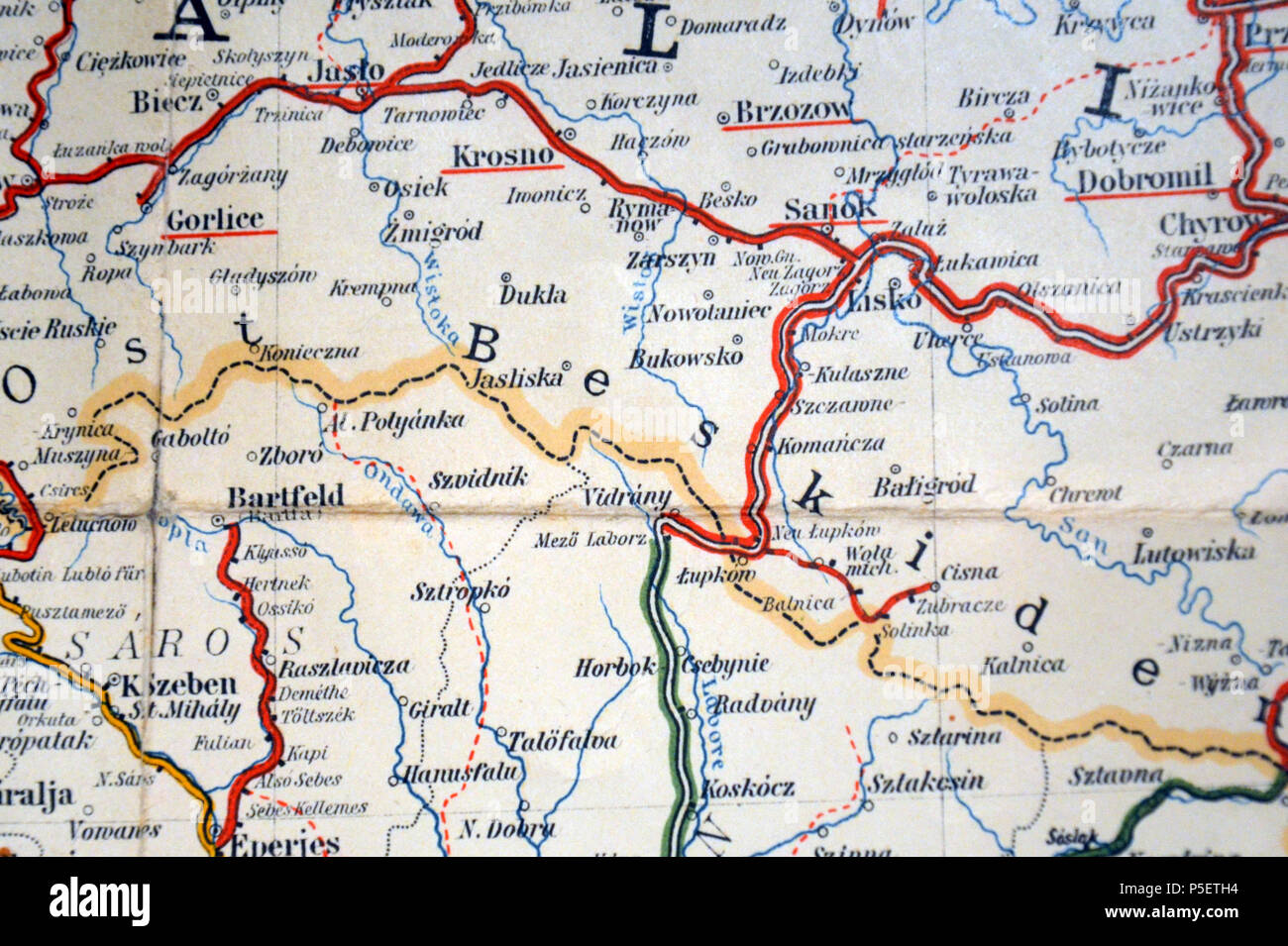 Galizien Karte.N A Deutsch Karte Von Galizien English Railway Map Of Bieszczady