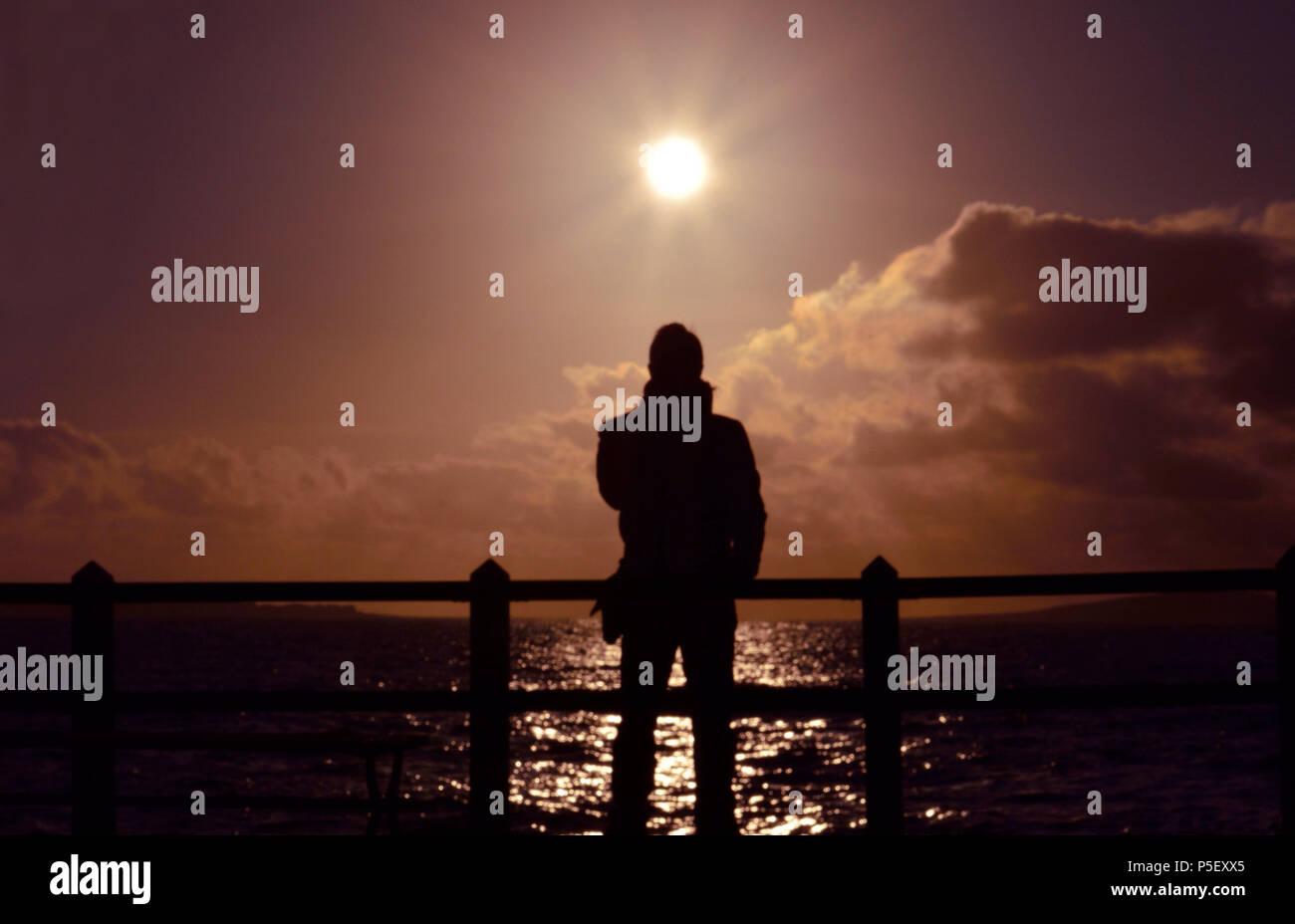 Barcarello al tramonto - Stock Image