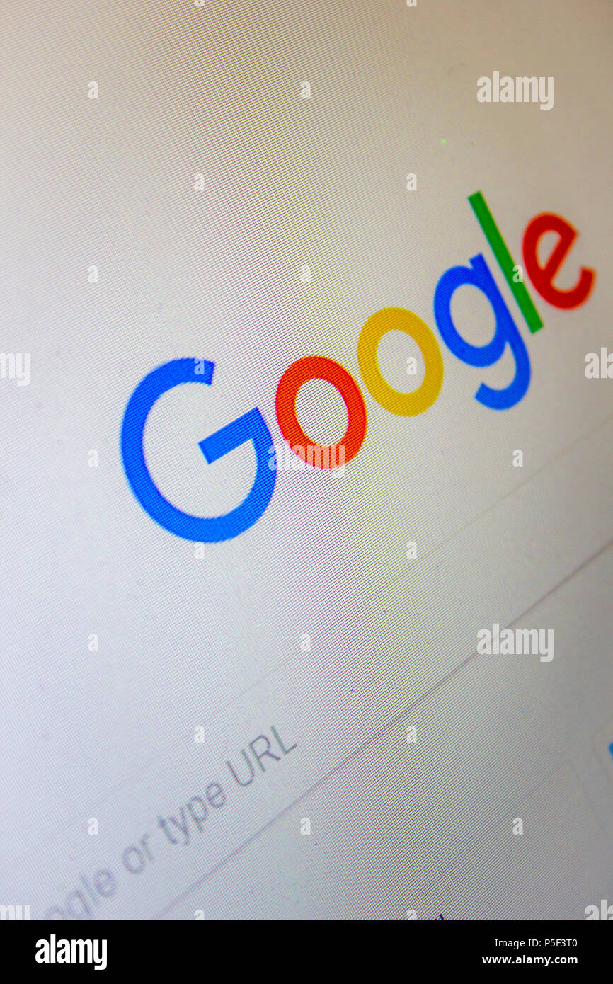 Google Search page - Stock Image