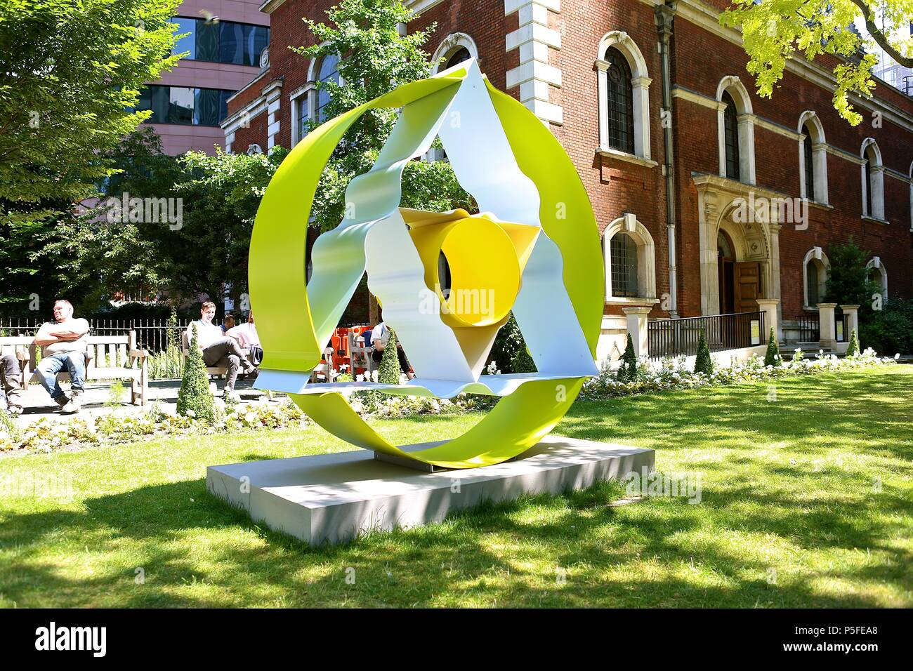 City Of London Public Art Programme Sculpture in The City Opens In London's Square Mile 26 June 2018 - Stock Image