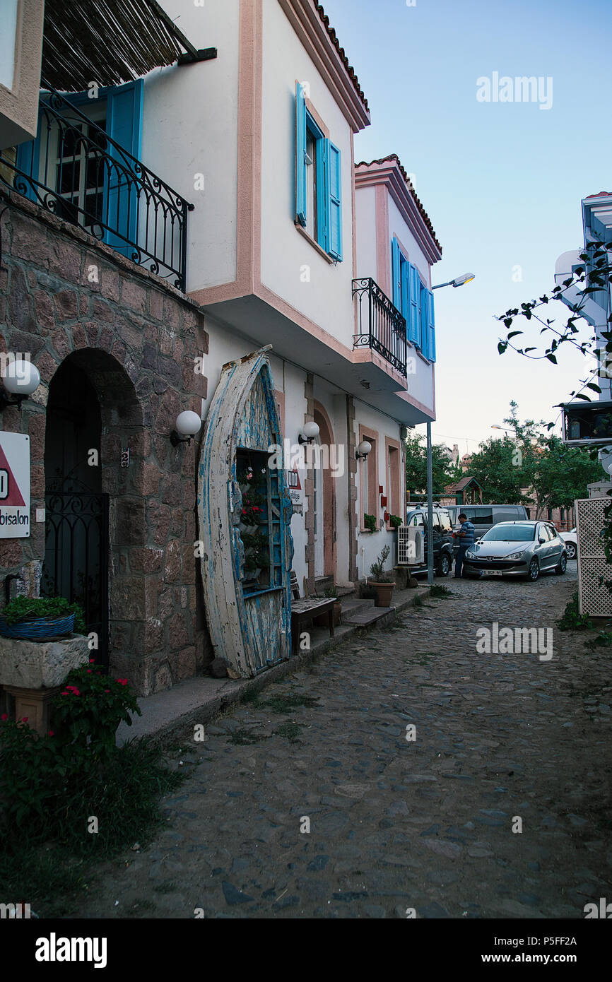 Cunda Street - Stock Image