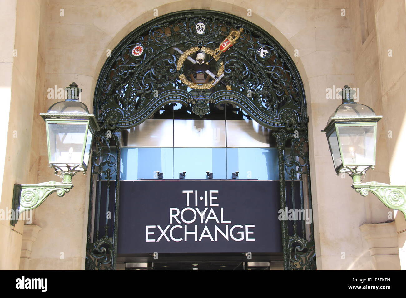 The Royal Exchange (a grand trading bourse turned into a luxury shopping centre above Bank station), London, England, UK, PETER GRANT - Stock Image