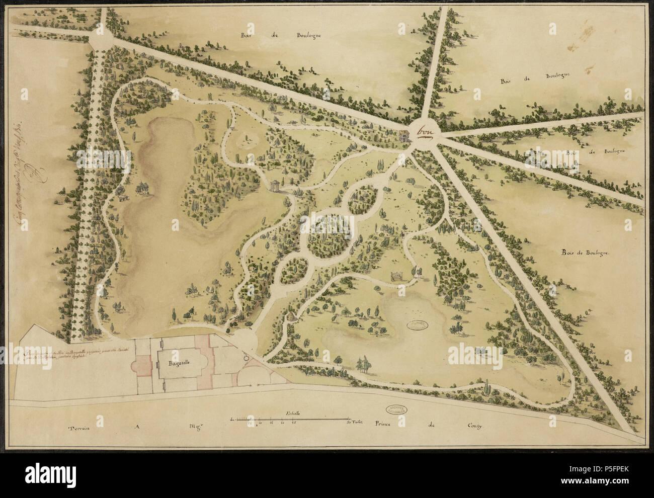 map of Bagatelle by Blaikie 161 Bagatelle Blaikie Stock Photo