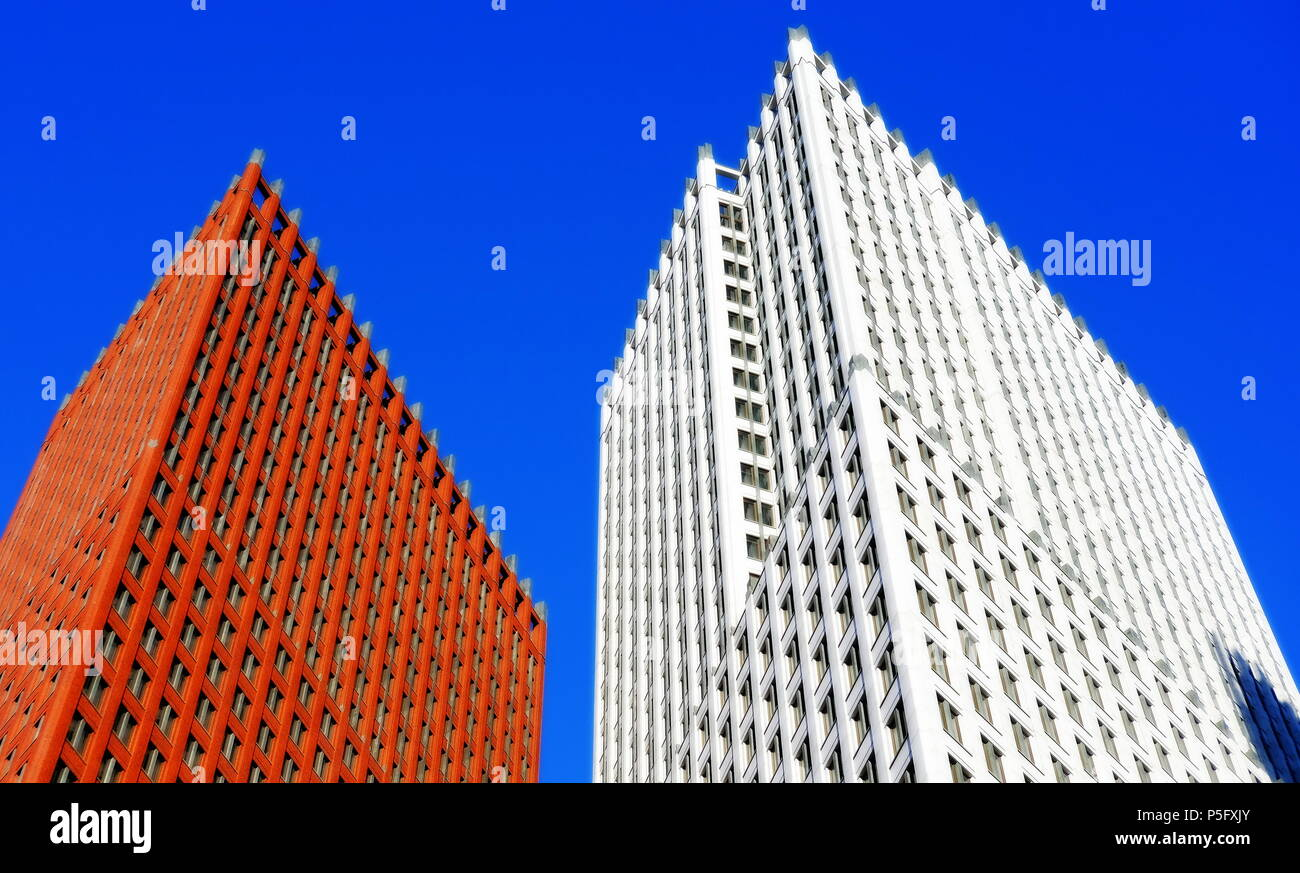 Skyscrapers in The Hague in the Netherlands - Stock Image