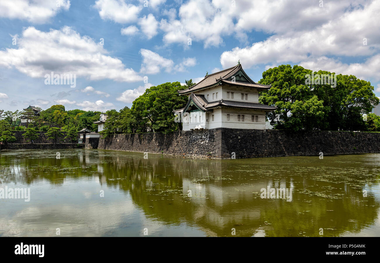 Tokyo Imperal Palace in Cental Toyko, Asia - Stock Image