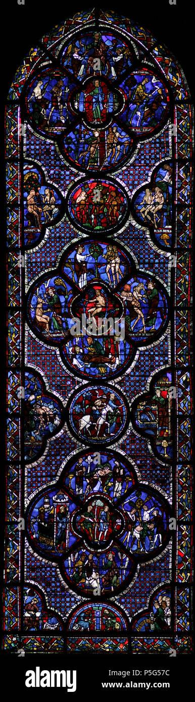 N A Vitrail 44 De La Cathedrale De Chartres Le Bon Samaritain
