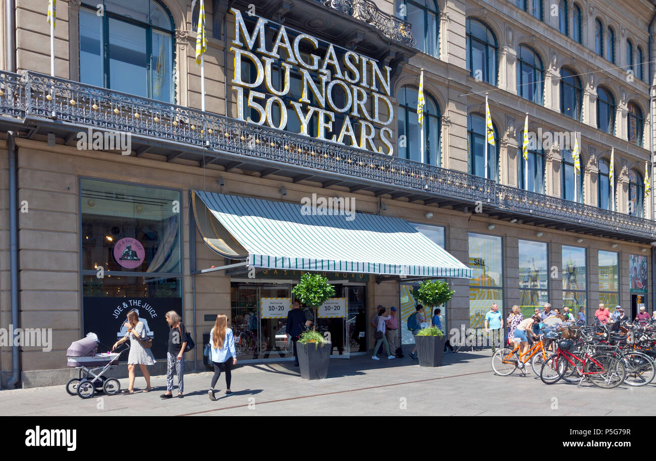 150 years ago (2018) Magasin du Nord opened the first department store at Kongens Nytorv, Copenhagen, Denmark. Stock Photo