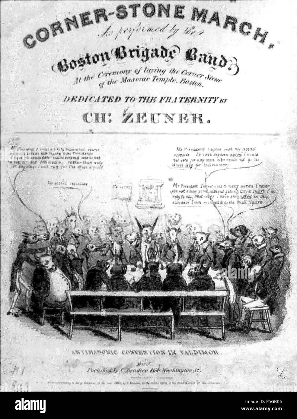 1832 AntiMasonic Valdimor byDClaypooleJohnston LibraryOfCongress. - Stock Image
