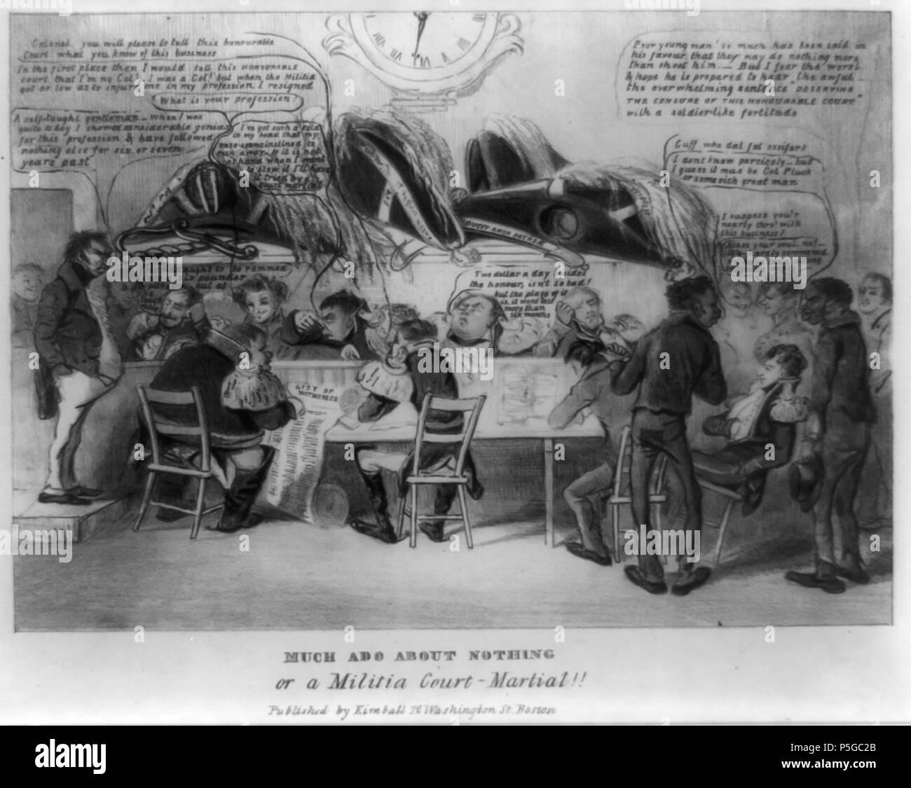1832 MuchAdo byDClaypooleJohnston LibraryOfCongress. - Stock Image
