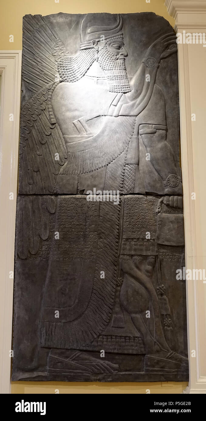 N/A. English: Exhibit in the Harvard Semitic Museum, Harvard University - Cambridge, Massachusetts, USA. Works in this photograph are old enough so that they are in the . 3 April 2016, 15:04:41. Daderot 432 Deity, Assyrian, probably a resin cast of plaster cast of an unidentified original - Harvard Semitic Museum - Cambridge, MA - DSC06439 Stock Photo