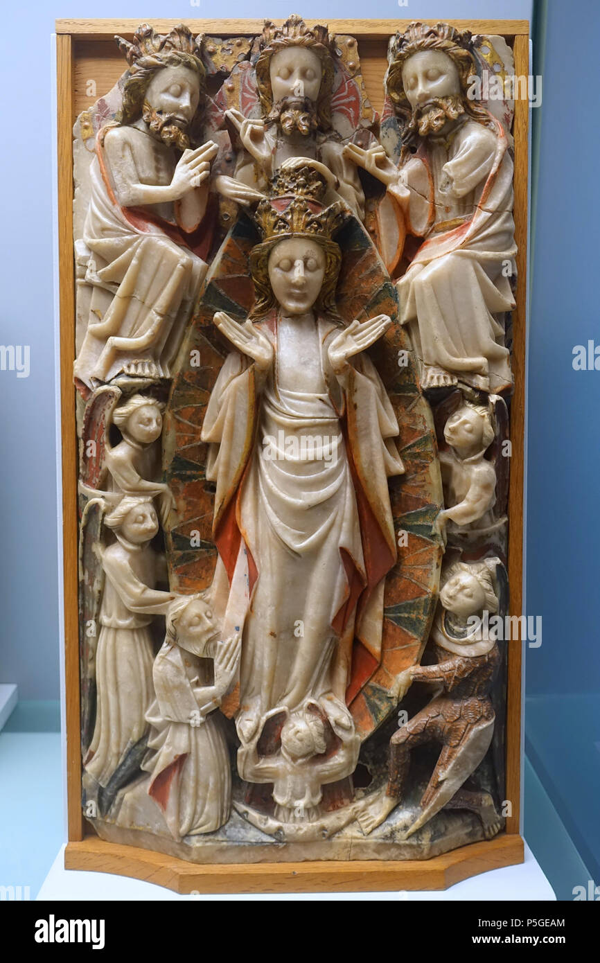 22 April 2016 064834 Daderot 143 Assumption And Coronation Of Mary England Late 15th Century Alabaster With Polychrome Gilding