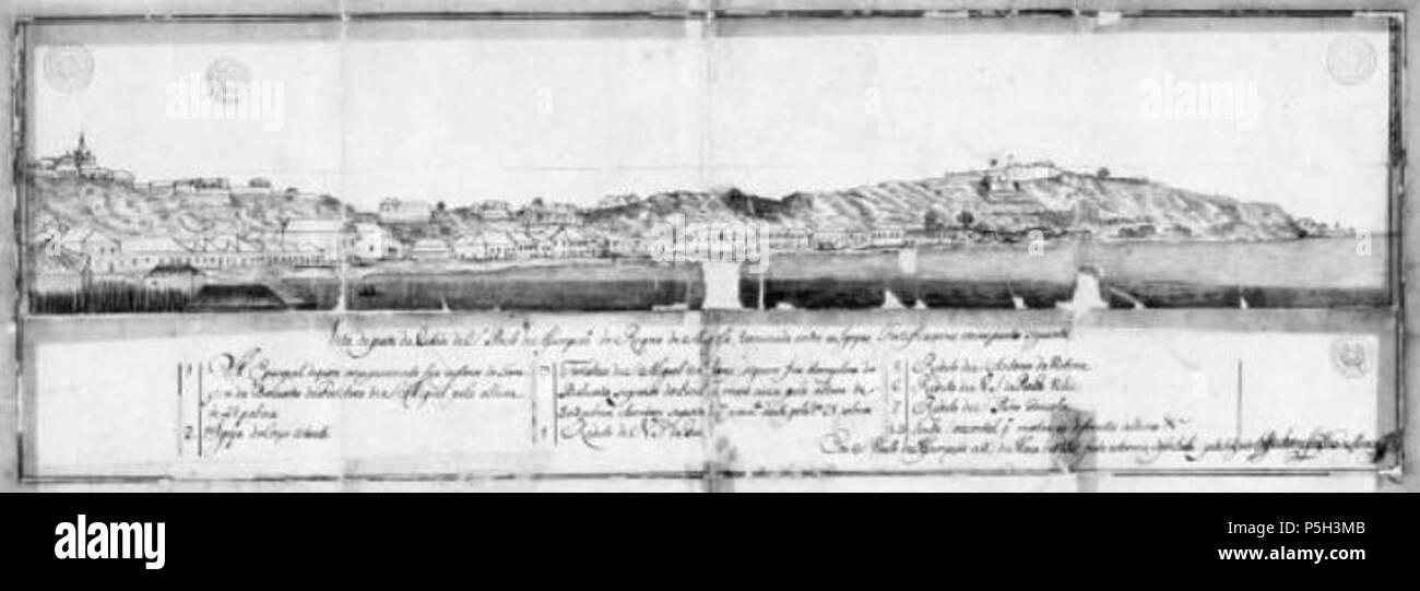 23 1755 Luanda Angola Arquivo Historico Ultramarino - Stock Image