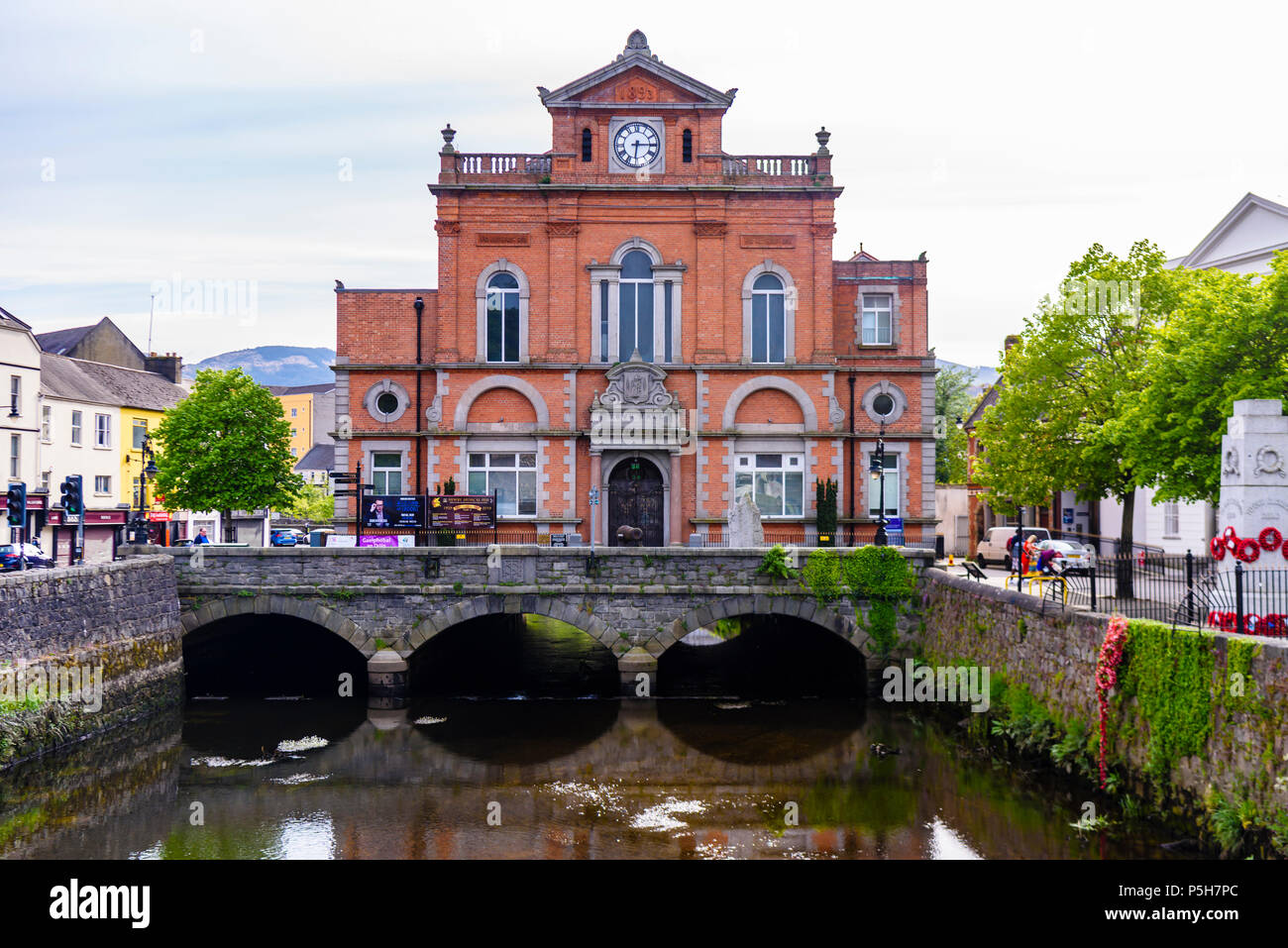 Newry Town Hall over the canal.  Northern Ireland. - Stock Image