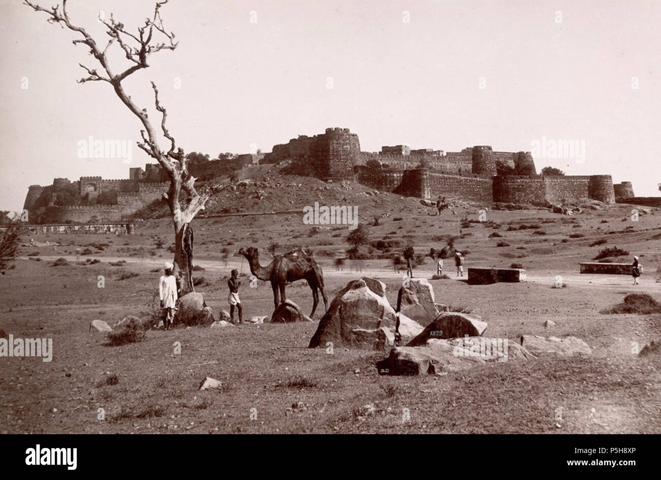 Image result for Photograph of Jhansi Fort taken in 1882 by Lala Deen Dayal, from the Lee-Warner Collection: