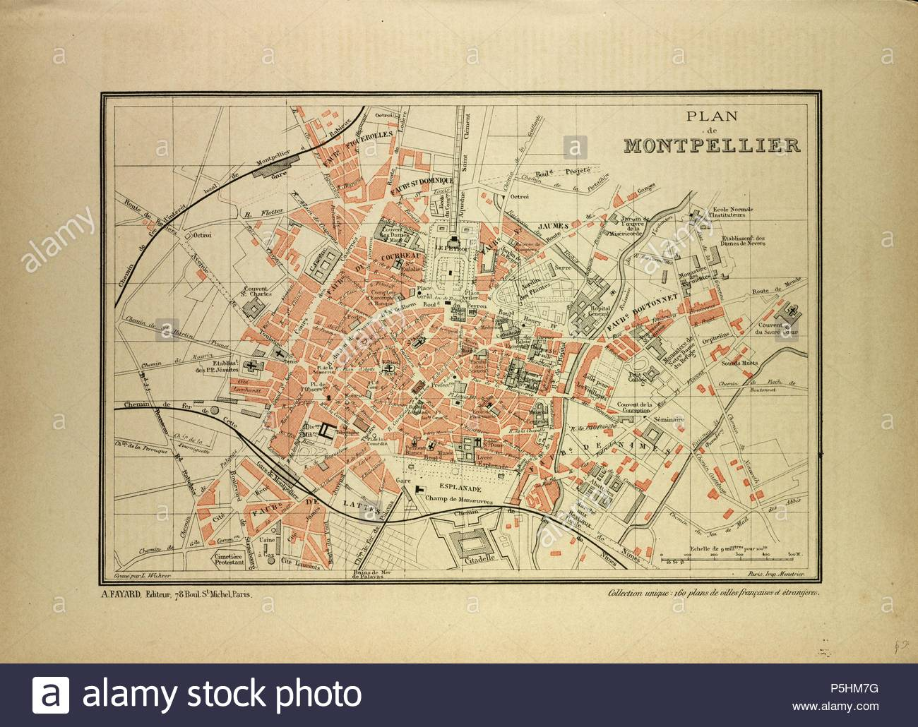 Montpellier Map Of France.Map Of Montpellier France Stock Photo 209986772 Alamy