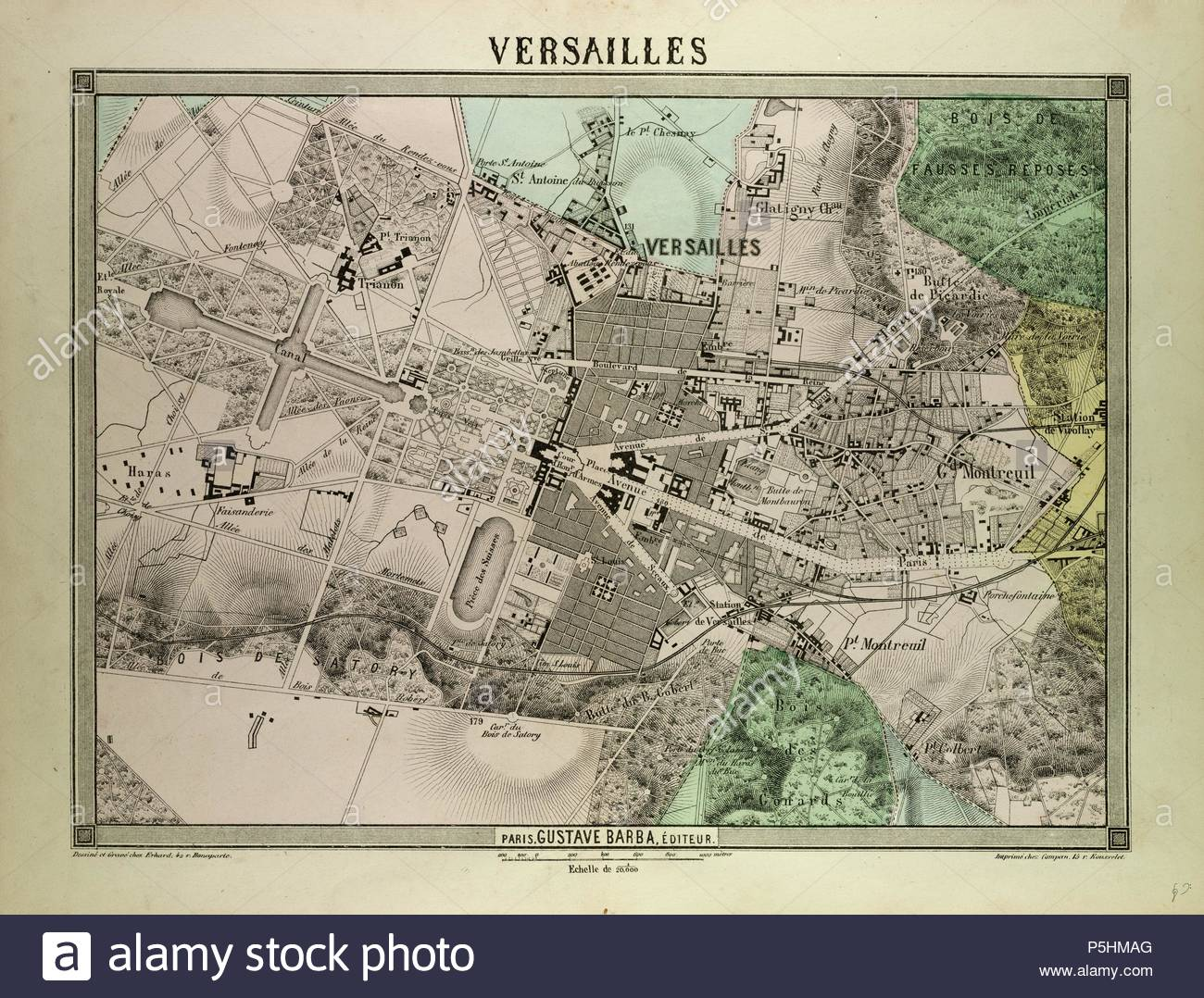Map Of France Versailles.Map Of Versailles France Stock Photo 209986856 Alamy