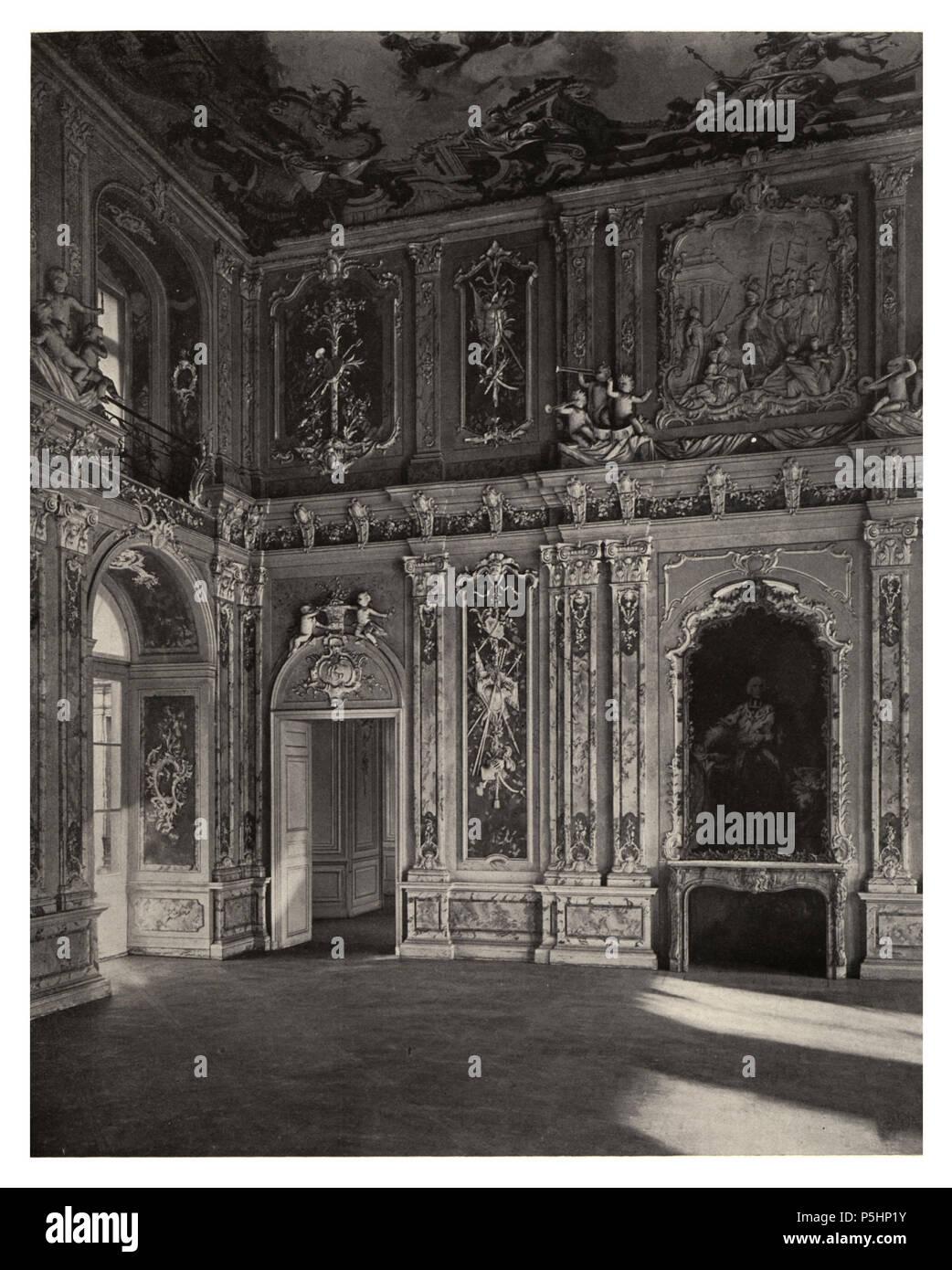 19 166 Schloß Brühl a. Rhein (Augustusburg). — Der Rittersaal - Stock Image