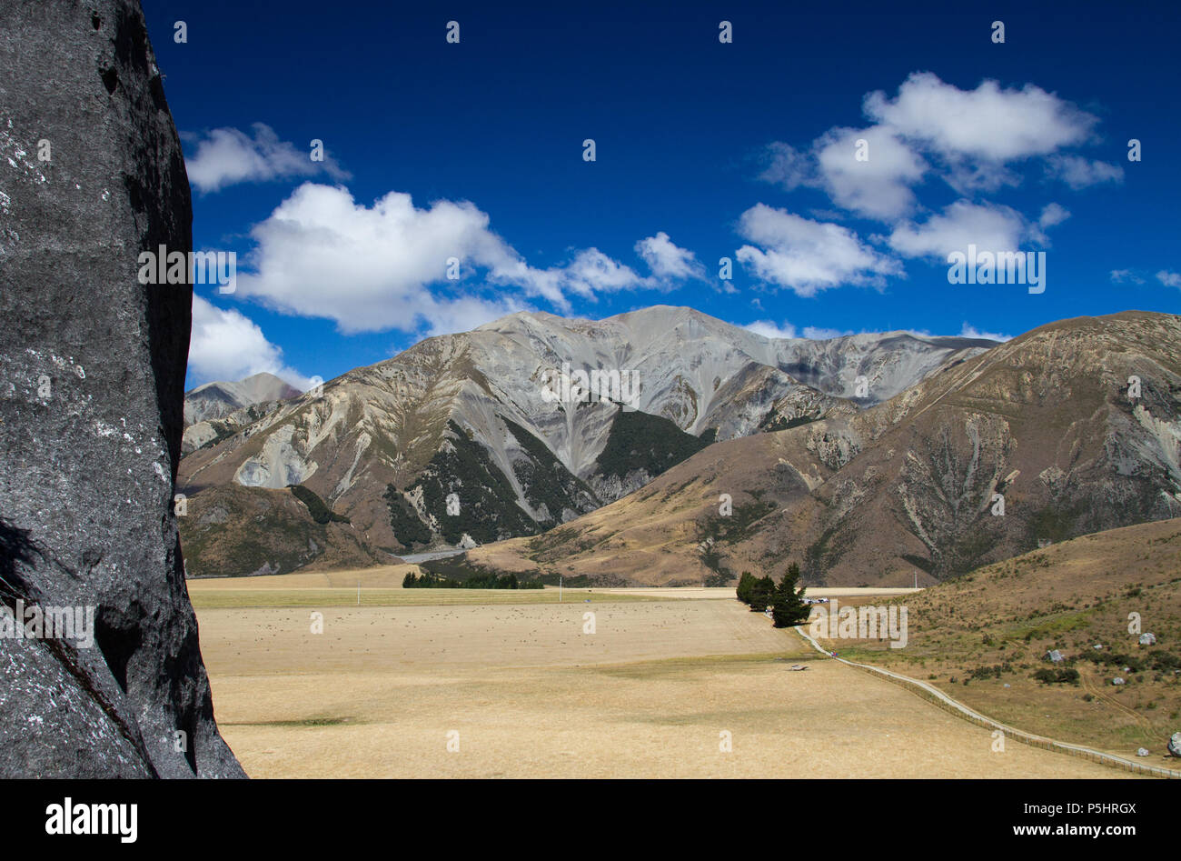 Castle Rock, South Island, NZ - Stock Image
