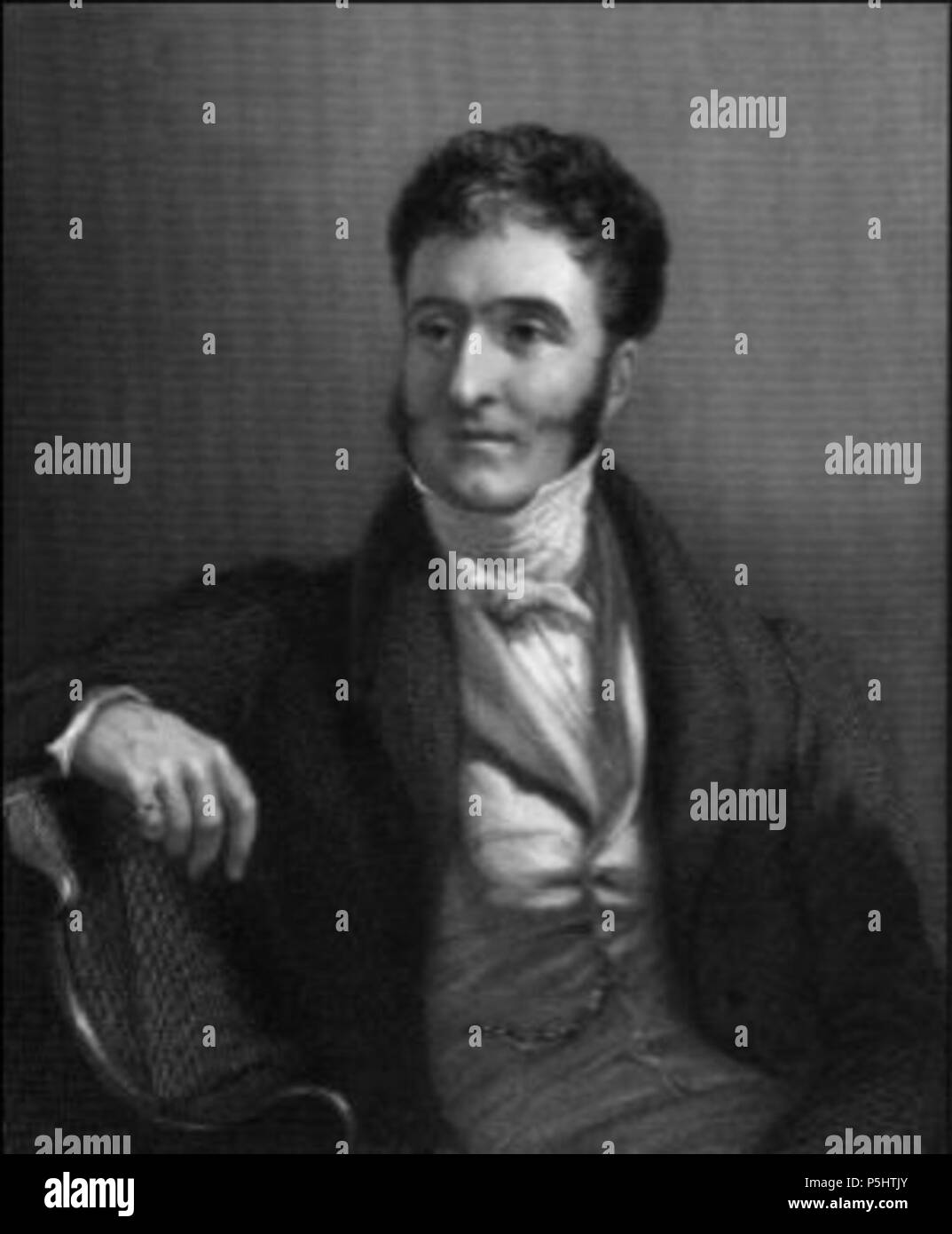 N/A. English: Hugh Fortescue, 2nd Earl Fortescue (1783-1861). Engraving by W Holl from a painting by George Hayter . circa 1840. Engraving by W Holl from a painting by George Hayter 36 2ndEarlFortescueByGeorgeHayter - Stock Image