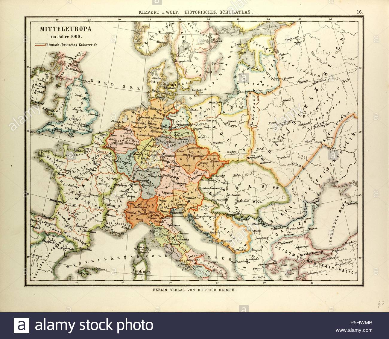 Map Of Central Europe In 1000 A D Stock Photo 209991051 Alamy