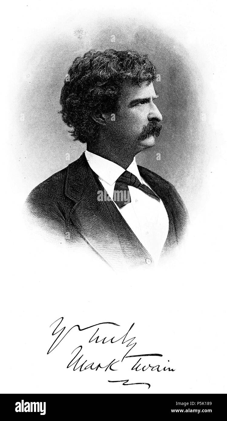 N/A. English: Image from a scanned copy of a book 'A Tramp Abroad' (1880) by Mark Twain. Image has been cropped and the sepia tones removed. 1880.   Mark Twain  (1835–1910)       Alternative names Samuel Langhorne Clemens  Description American writer  Date of birth/death 30 November 1835 21 April 1910  Location of birth/death Florida, Missouri Redding, Connecticut  Work period 1851-1910  Authority control  : Q7245 VIAF:50566653 ISNI:0000 0003 6864 1704 ULAN:500020427 LCCN:n79021164 NLA:35028957 WorldCat 30 1880. A Tramp Abroad 0008 - Stock Image