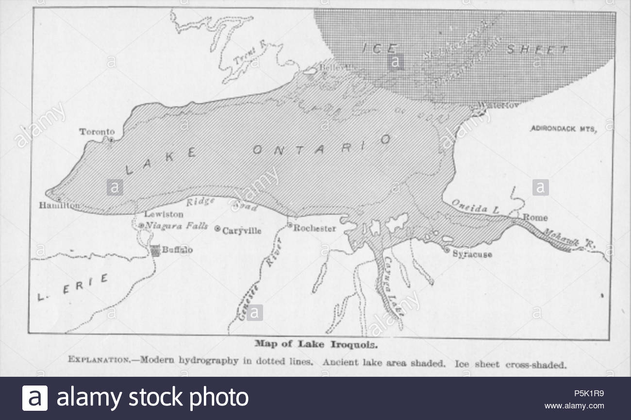 N/A  19th century estimate of the boundaries of Lake Iroquois  1893