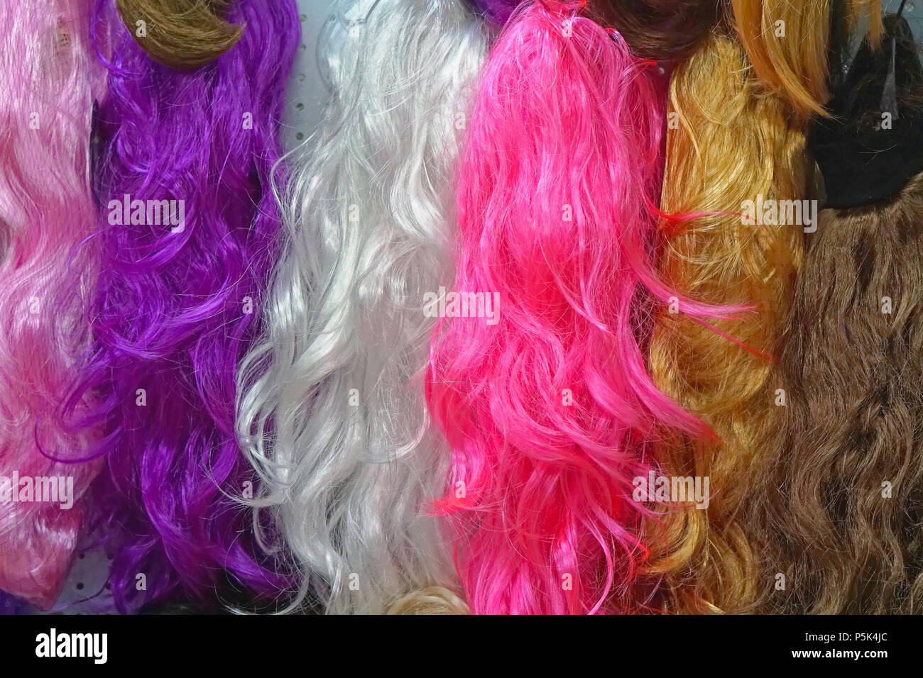 Colourful Synthetic Hair Extensions For Sale Stock Photo 210018436