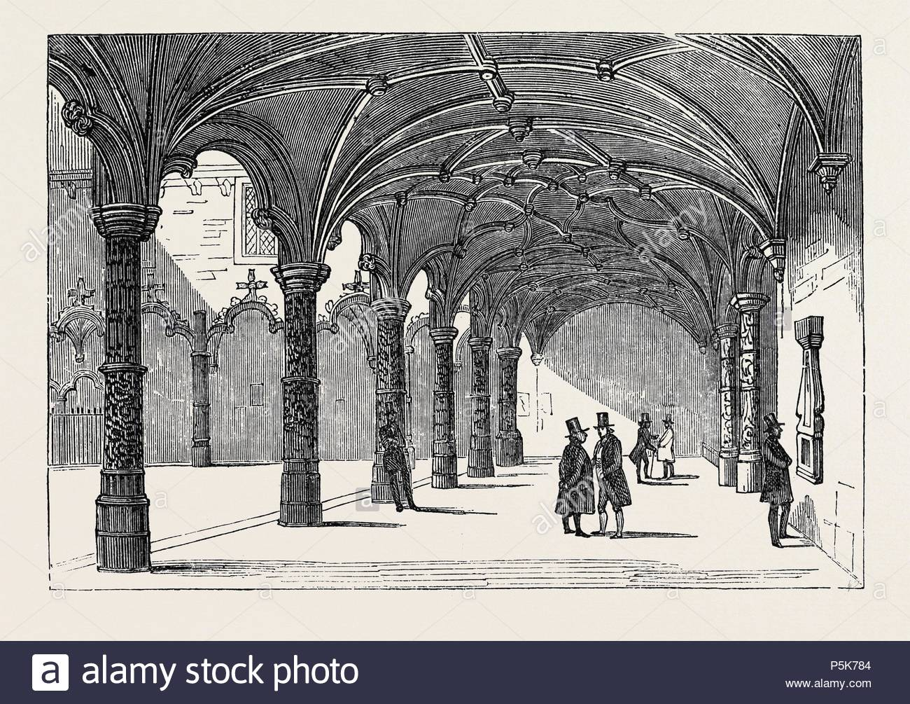 THE BOURSE AT ANTWERP. - Stock Image