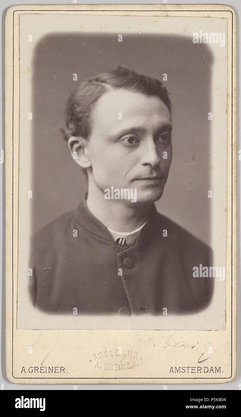 N A Nederlands Beschrijving Carte De Visite Met Portret Van Pastoor Gribling Was In Jaren 1878 1882 Kerk HH Petrus En