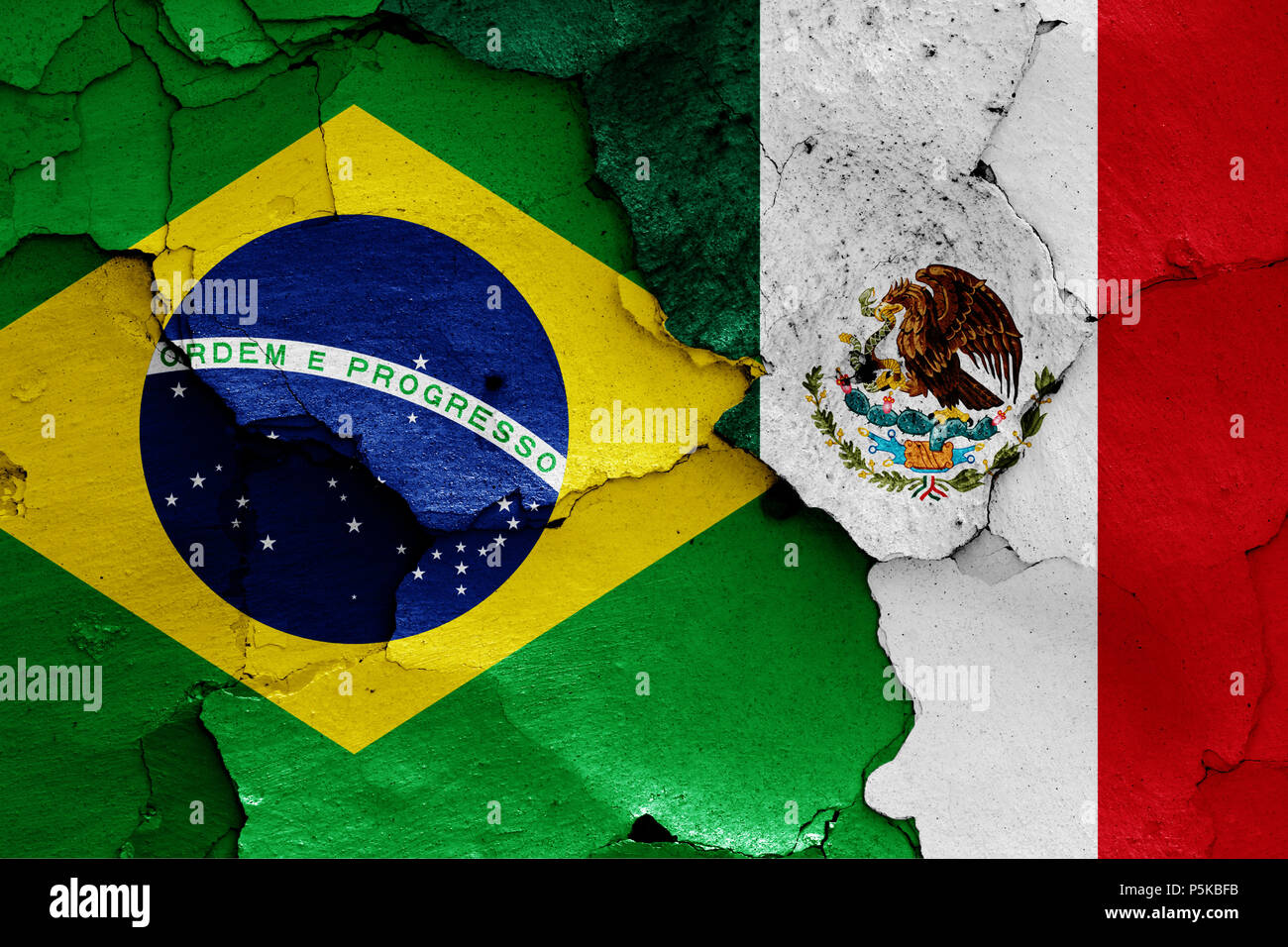 Flags of brazil and mexico stock photo 210023839 alamy flags of brazil and mexico gumiabroncs Choice Image