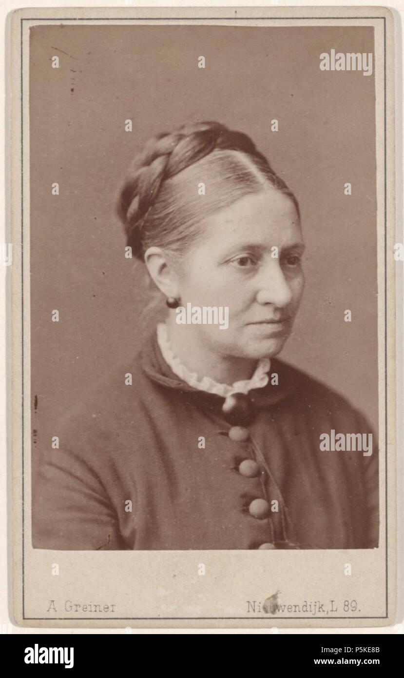 N A Nederlands Beschrijving Carte De Visite Met Portret Van Een Onbekende Dame