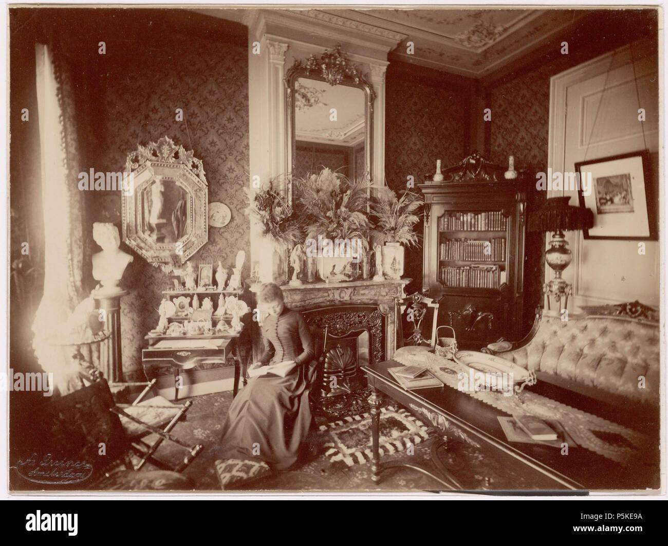 na nederlands beschrijving herinnering aan mijn kamer keizersgracht 630 interieur van de kamer van marie katz geesink documenttype foto vervaardiger