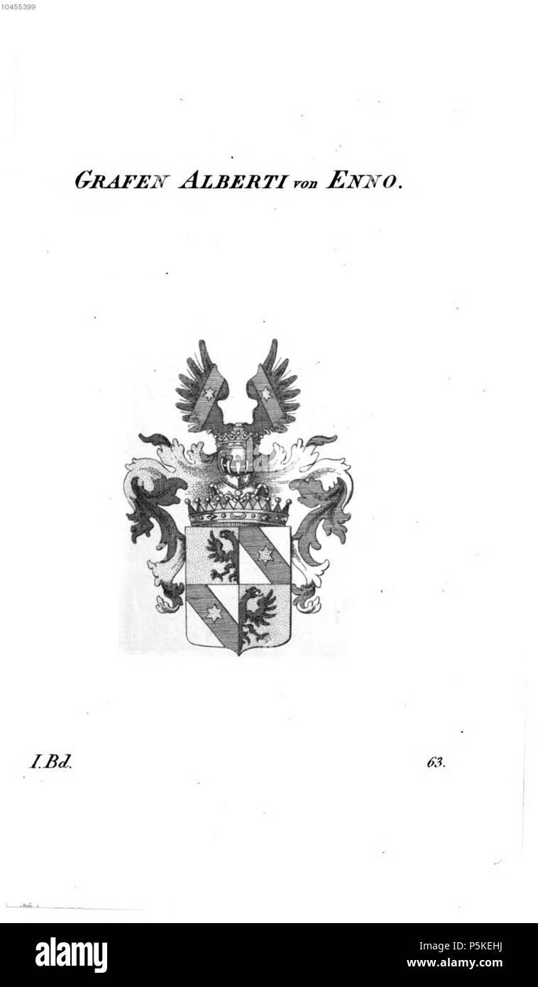 N/A. Wappen Alberti von Enno - Tyroff AT.jpg . between 1831 and 1868. Unknown 74 Alberti von Enno - Tyroff AT - Stock Image