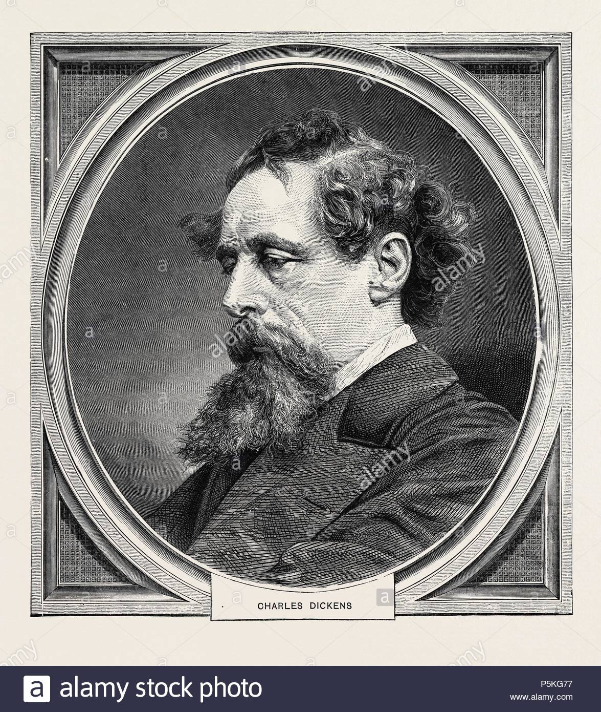 CHARLES DICKENS, BORN AT PORTSMOUTH, 7 FEBRUARY, 1812; DIED AT GAD'S HILL, KENT, 9 JUNE, 1870. - Stock Image