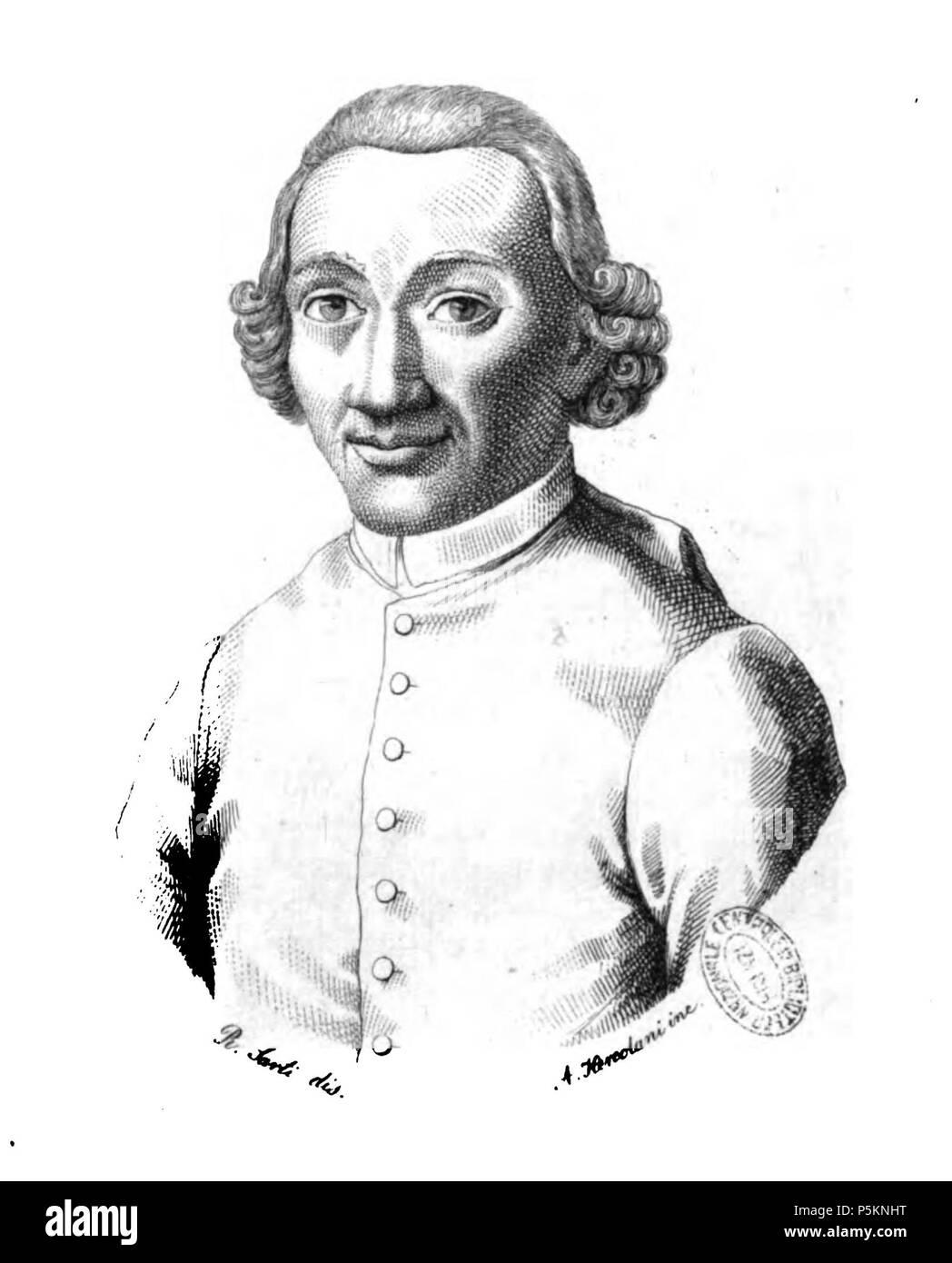N/A. Italiano: Ritratto di Antonio Zirardini. before 1834. Unknown 113 Antonio Zirardini - Stock Image