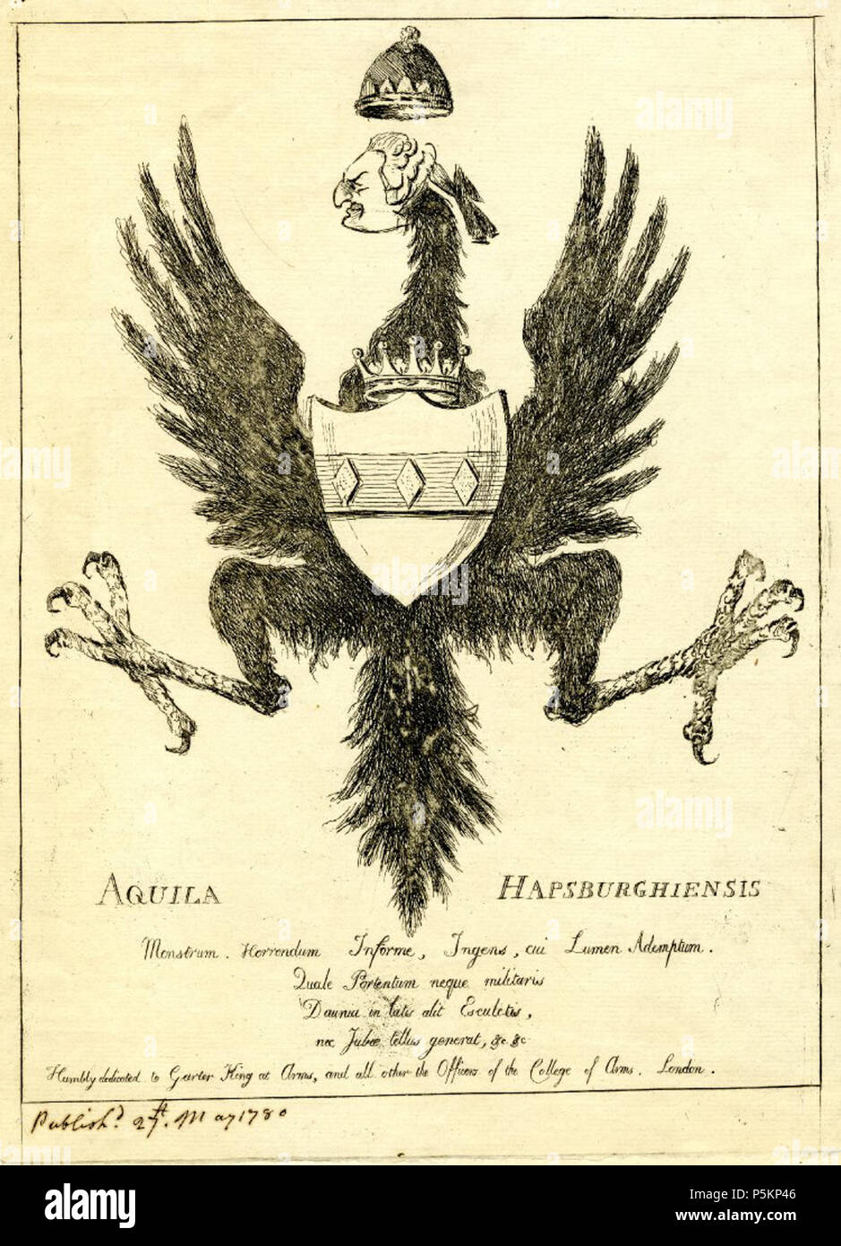 2ab4f5ab6 N/A. English: Satire with the Habsburg double-headed eagle showing only