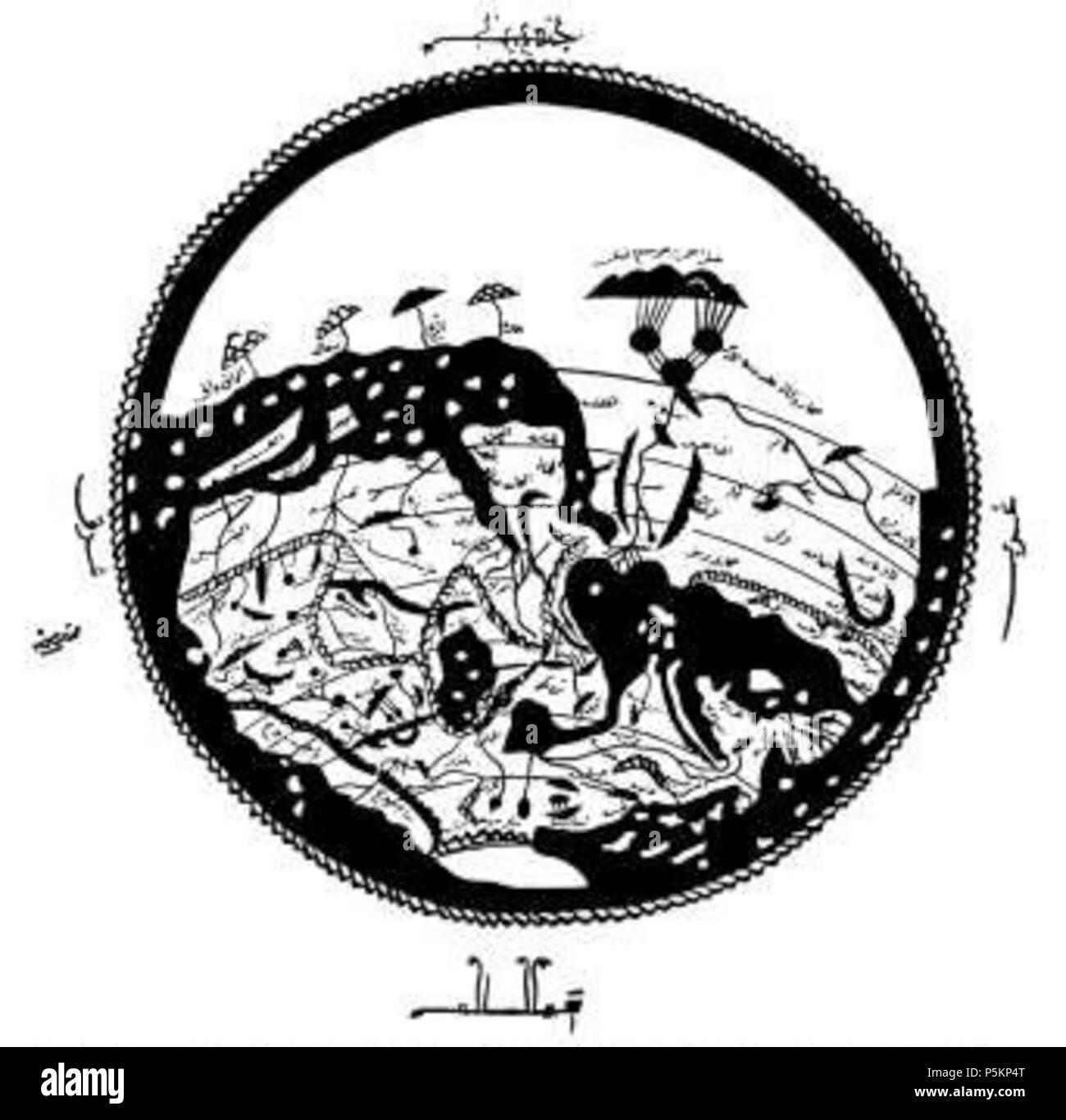 116 Arab world map 1154 - Stock Image