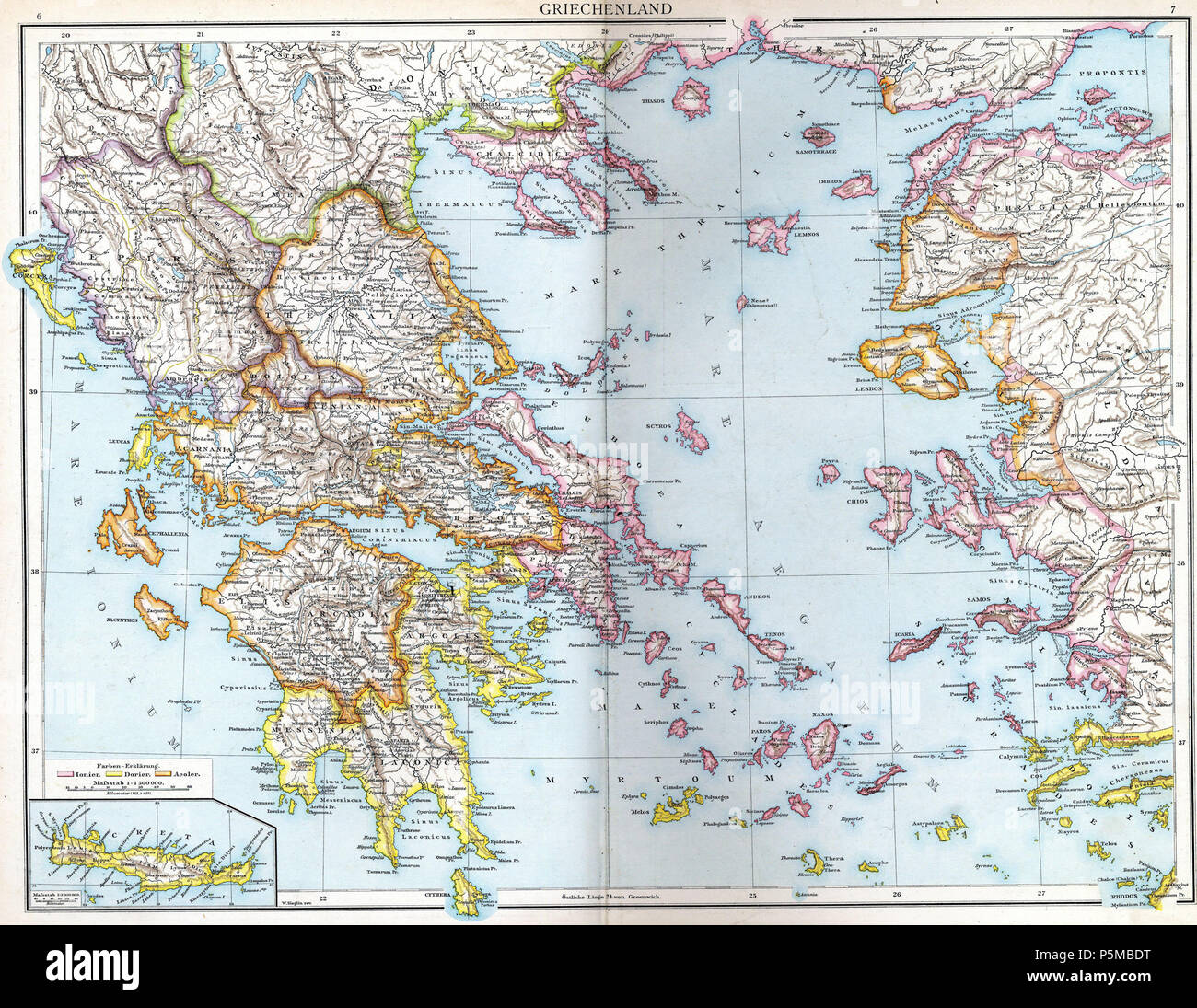 Ancient Greece Map Stock Photos Ancient Greece Map Stock Images
