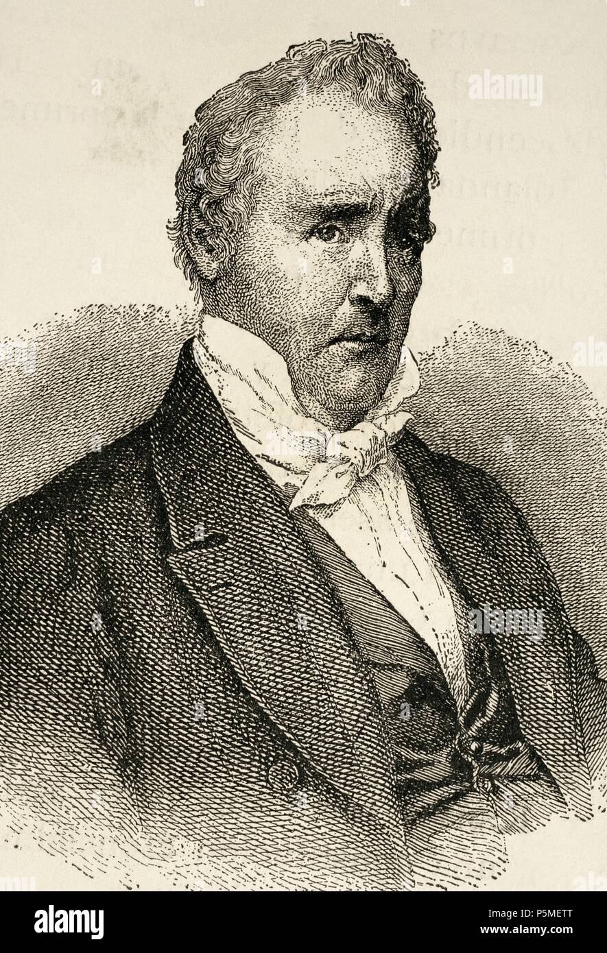 James Buchanan (1791-1868). American politician. 15th President of the United States (1857-1861). Engraving in World History, 1885. - Stock Image