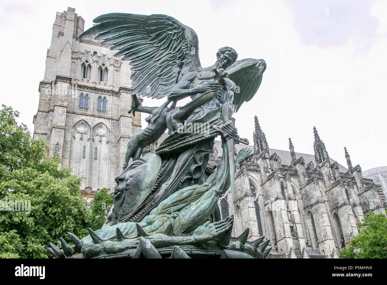 Peace Fountain by Greg Wyatt, by The Cathedral Church of St. John the Divine in NYC. Stock Photo